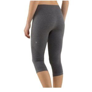 Charcoal grey capri seamless leggings